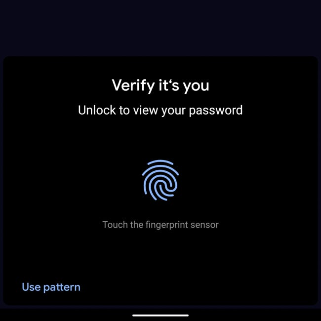 Seguridad de contraseña de Android Chrome