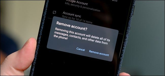 Android Remove Google Gmail Account