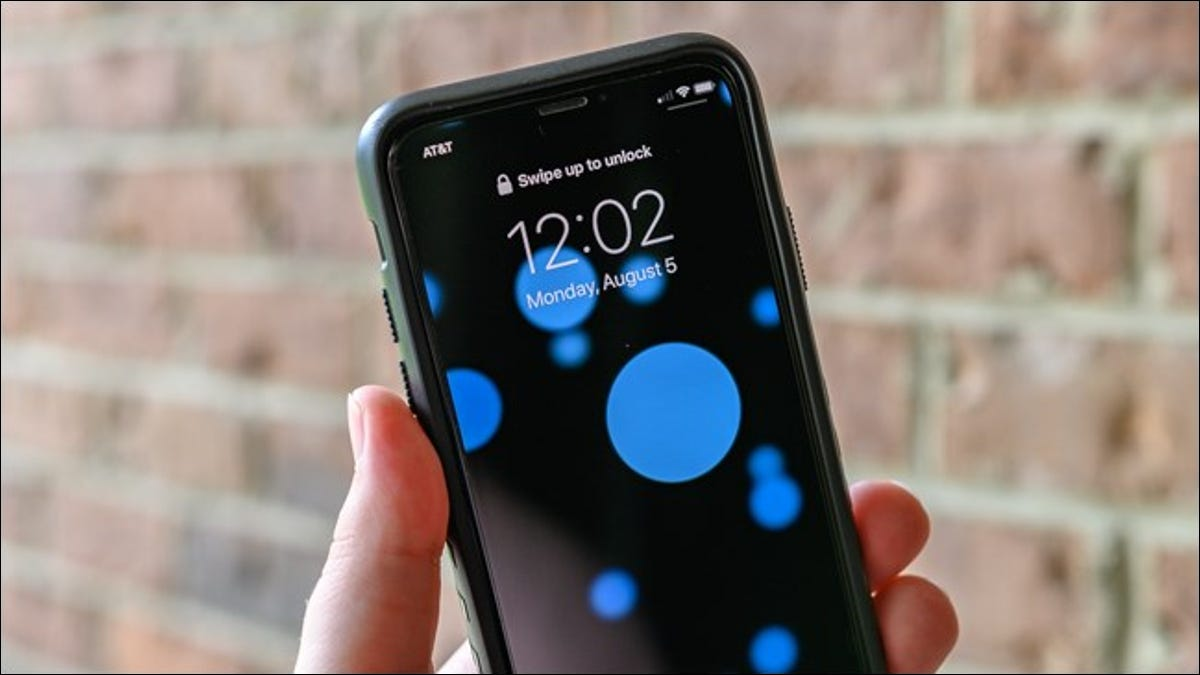 Apple iPhone with Dynamic Wallpaper