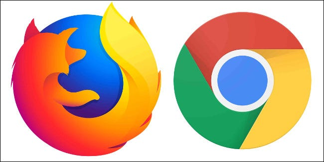 Mozilla Firefox and Google Chrome Browser Logos