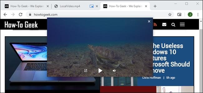 Google Chrome Picture-in-Picture Local Videos