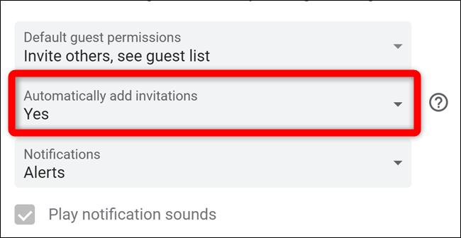 Google Calendar Select Automatically Add Invites