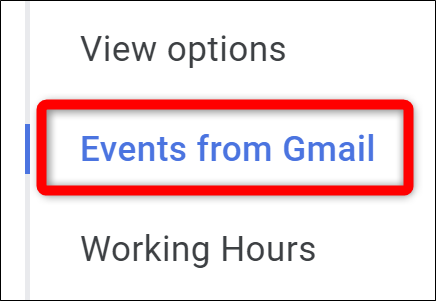Google Calendar Select Events from Gmail