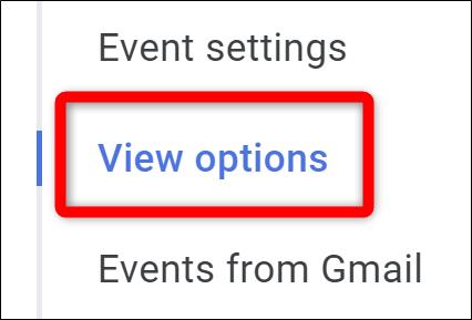 Google Calendar Select View Options