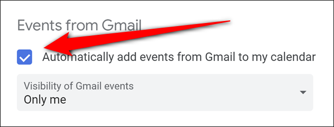 Google Calendar Toggle Off Automatic Gmail Events