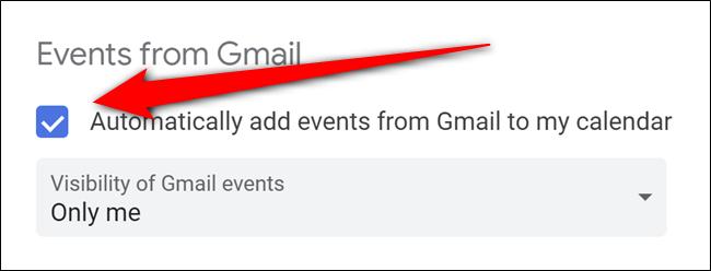 Google Calendar Toggle Off Automatic Gmail Events