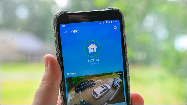 Google Nest Android App Homescreen