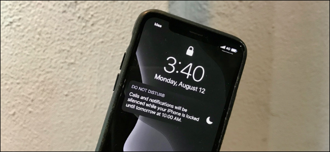 iPhone Lock screen showing Do Not Disturb notification