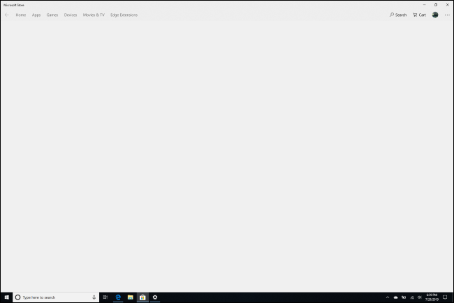 Gray screen when trying to leave S Mode in Windows 10's Store app