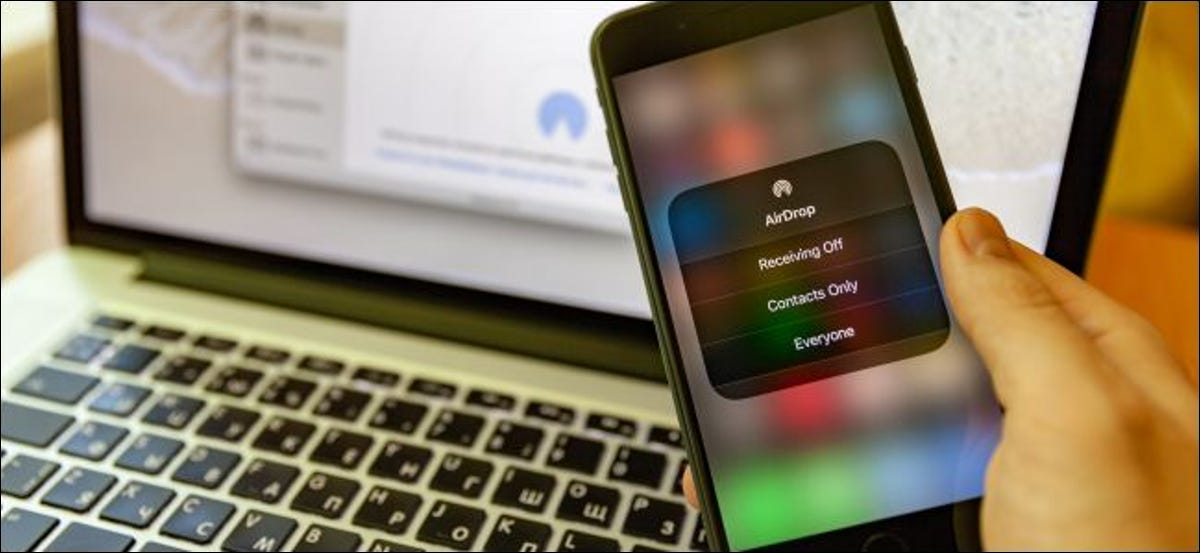 Configuring AirDrop on an iPhone and Mac