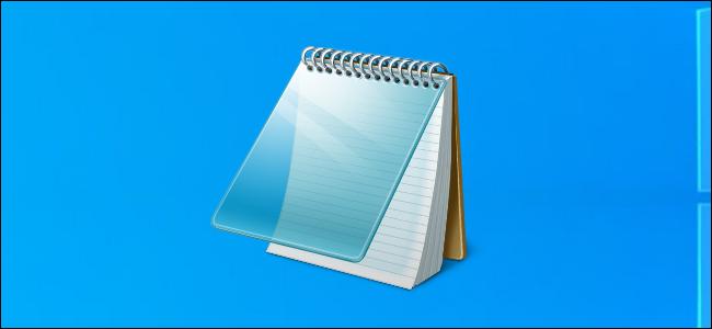 Notepad icon on Windows 10's desktop