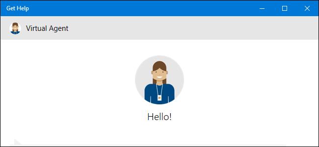 Obtenga la aplicación de ayuda que muestra el agente virtual en Windows 10