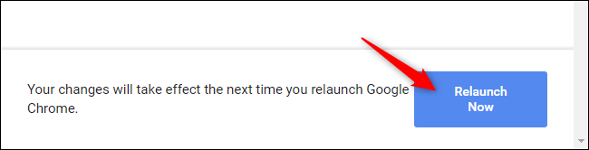 Relaunching Chrome after enabling a flag