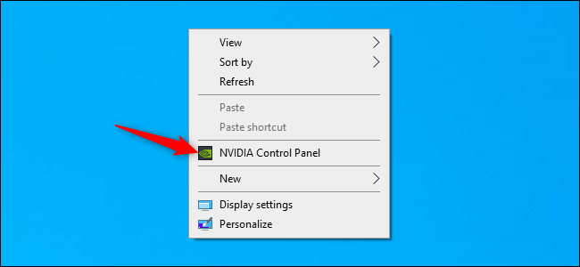 Launching the NVIDIA Control Panel