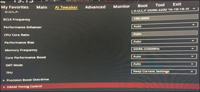 ASUS BIOS DRAM settings