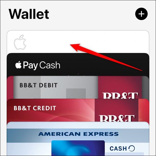 iPhone Wallet App Select Apple Card