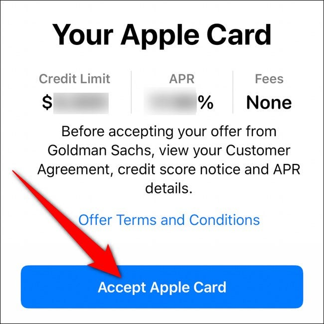 iPhone Wallet Accept Apple Card