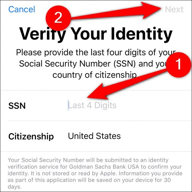 iPhone Wallet Verify Your Identity