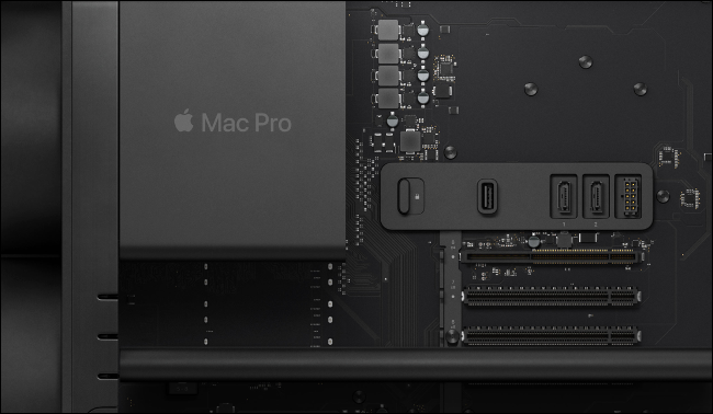 The Mac Pro hardware.