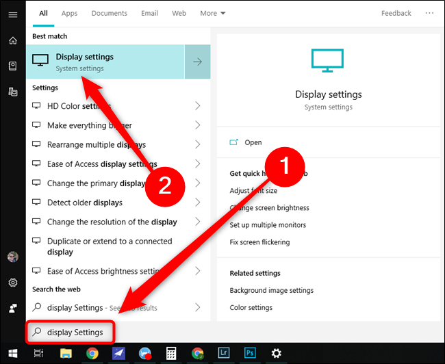Microsoft Windows 10 Start Menu Display Settings