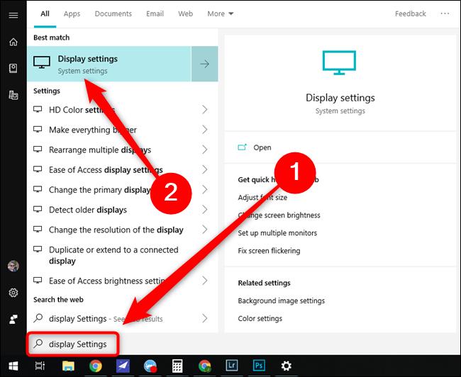 Microsoft Windows 10 Start Menu Display Settings