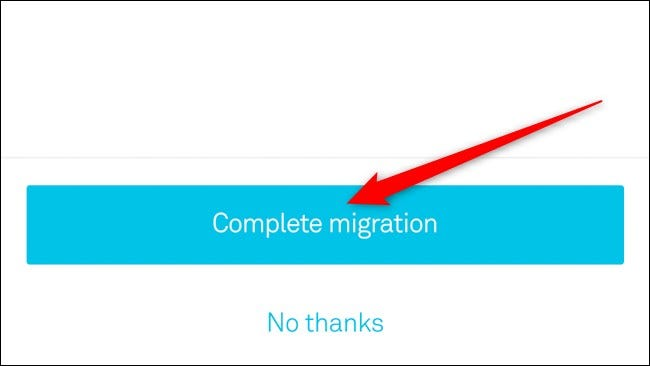 Nest App Select Complete Migration