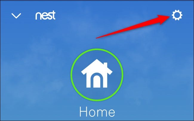 Nest App Select Setting Gear