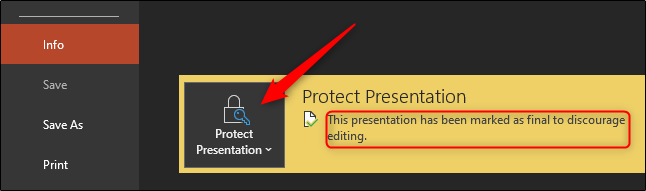 protect presentation