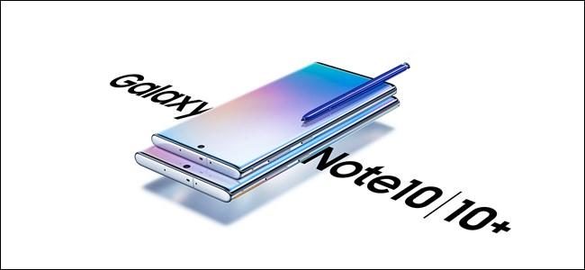 Samsung Galaxy Note 10 and 10 Plus Press Render Hero
