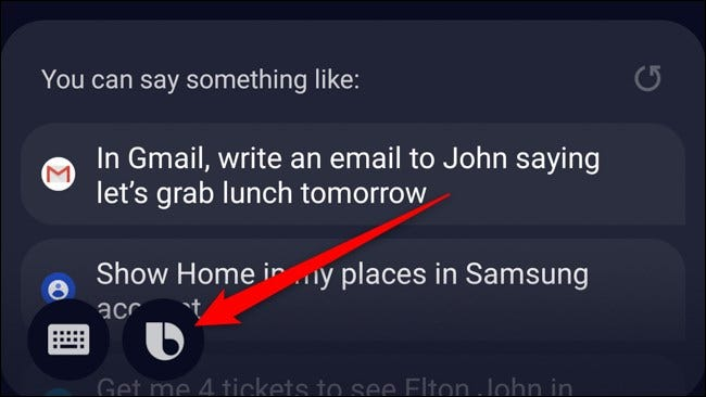 Samsung Galaxy Note 10 Plus Tap Bixby