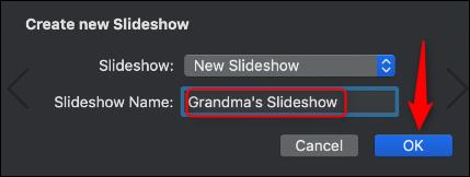 save grannys slideshow on mac