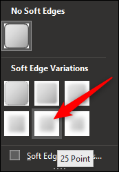 Click the soft edge variation that works best for your image.