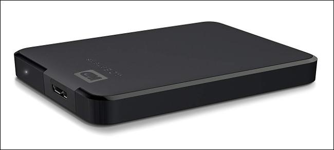 Western Digital Elements External USB 3.0 Hard Drive.