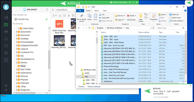 File Transfer Between PC and Airdroid