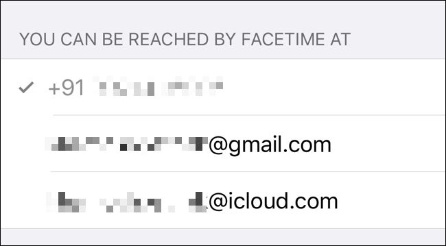 Check the ways you can be reached via FaceTime