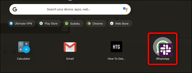 Drag an app's icon directly on top of another app's icon to create a folder.
