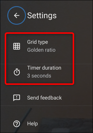 Change the type of Grid or the timer duration in Settings.