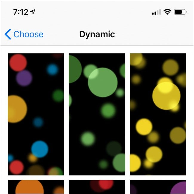 Apple iPhone Dynamic Wallpaper Options
