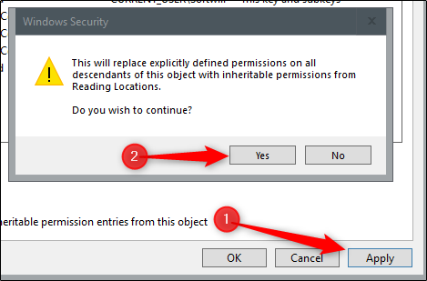 """Click """"Apply,"""" read the security message, and then click """"Yes."""""""