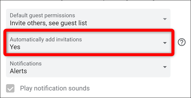 Google Calendar Select Automatically Add Invites