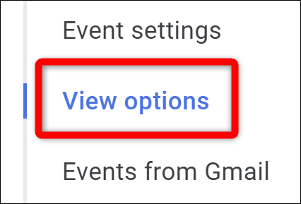 Google Calendar Select View Options
