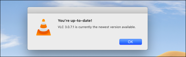 VLC for Mac saying you're up-to-date