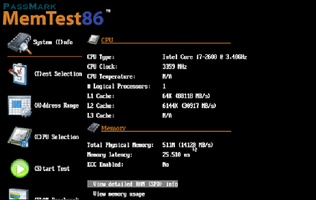 The memtest86 RAM health check software.