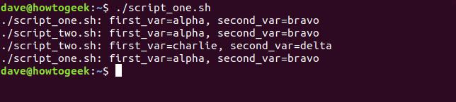"""""""./script_one.sh"""" in a terminal window."""