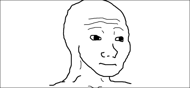 A photo of the Feels Guy.