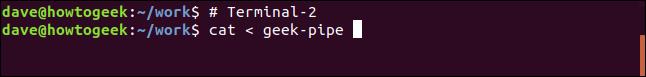 cat < geek-pipe in a terminal window