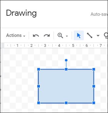 Haga clic y arrastre para crear una forma.