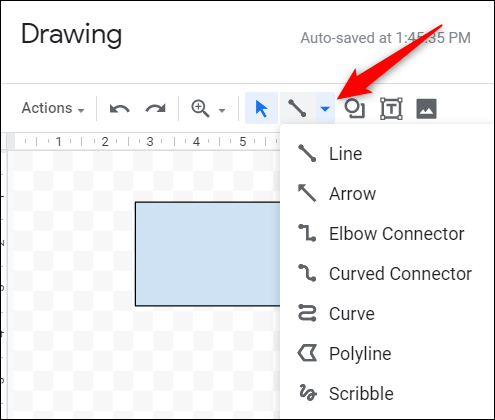 Click the line tool.