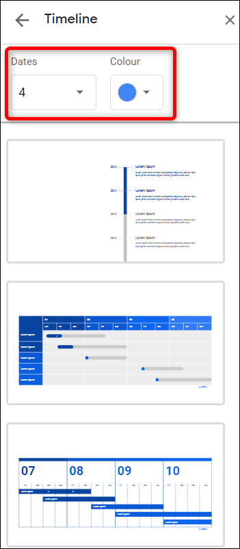 Customizing a diagram template in Google Slides.