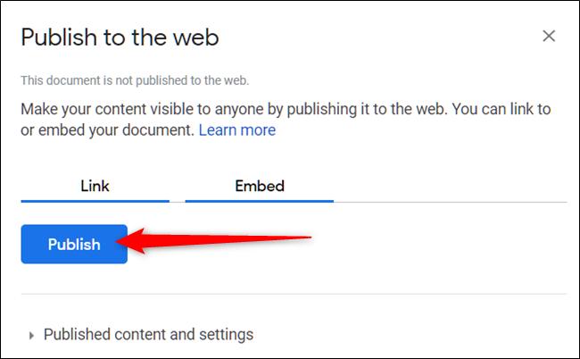 """Click """"Publish."""""""
